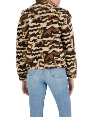 Wilder-Yes Sherpa Jacket in Brown Camo