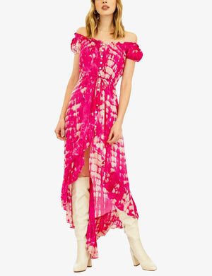 Tiare Hawaii Riviera Long Dress in Fuchsia/Stone