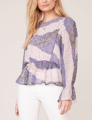 BB Dakota Easy Breezey Top in Steel Lavender