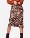 Wild Thing Skirt in Brown/Black Animal