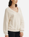 Ivy Long Sleeve V Neck in Natural