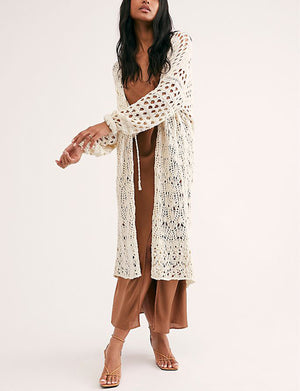 Free People Sweet Talker Cardi in Ivory