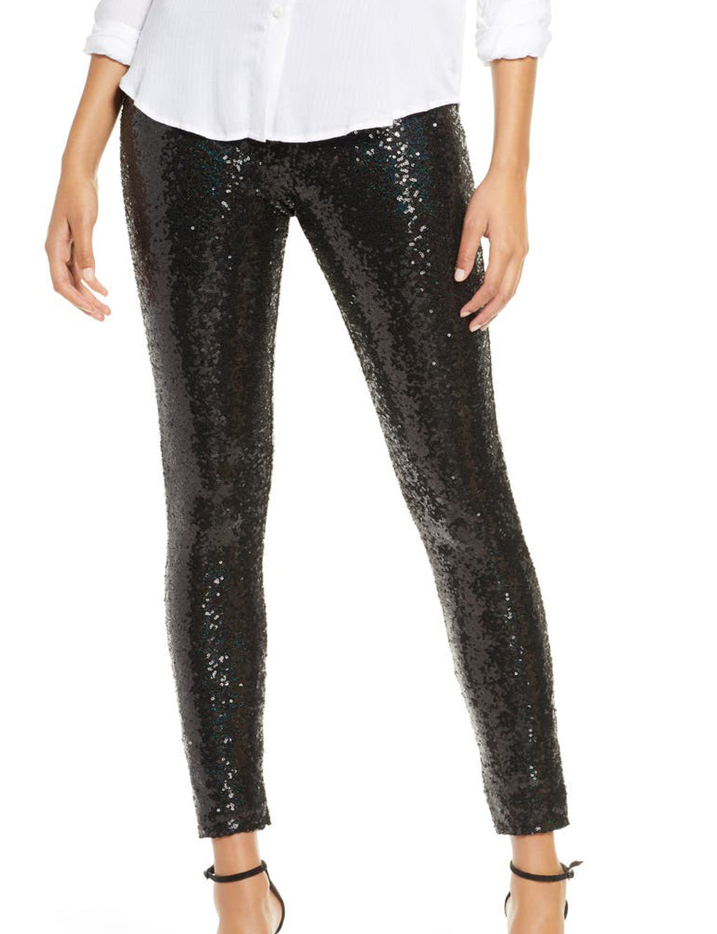 Sequin Legging in Black