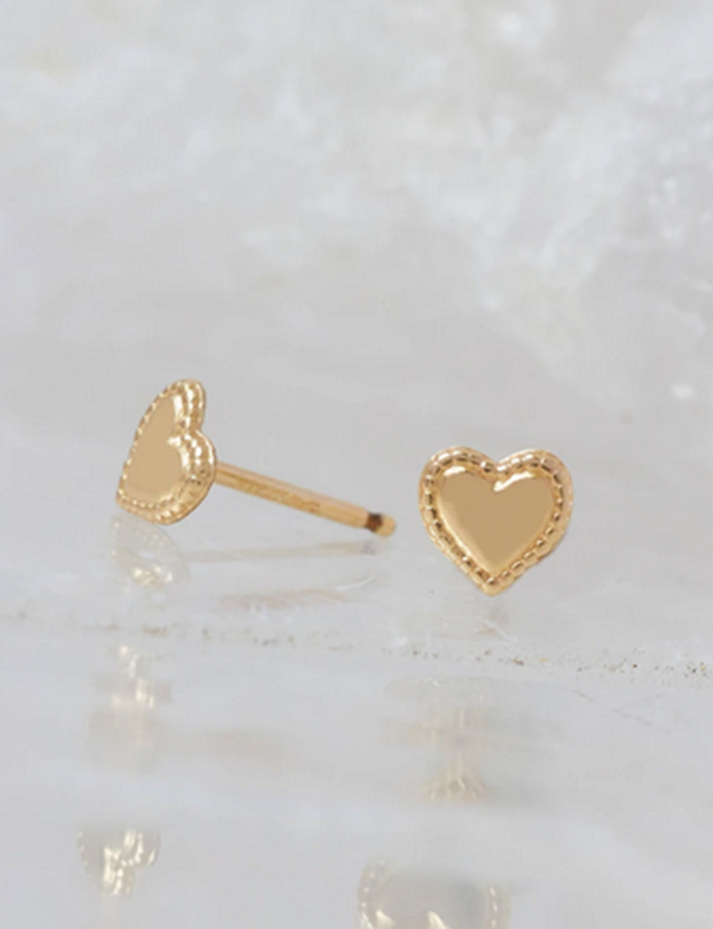 Natalie B Heart Studs in 14K Gold Fill