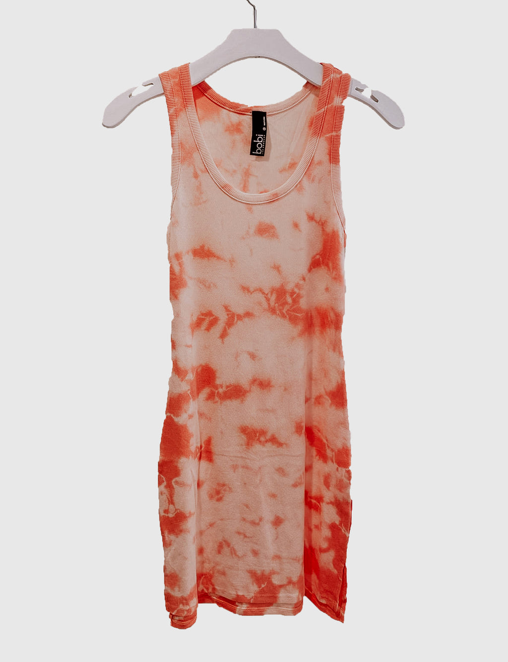 Hi Lo Tank Dress in Guava