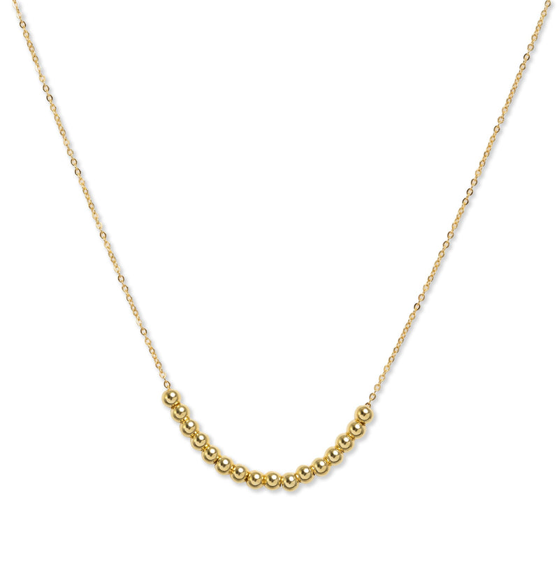Camilla Beaded Necklace in 14K Gold Plate over Sterling