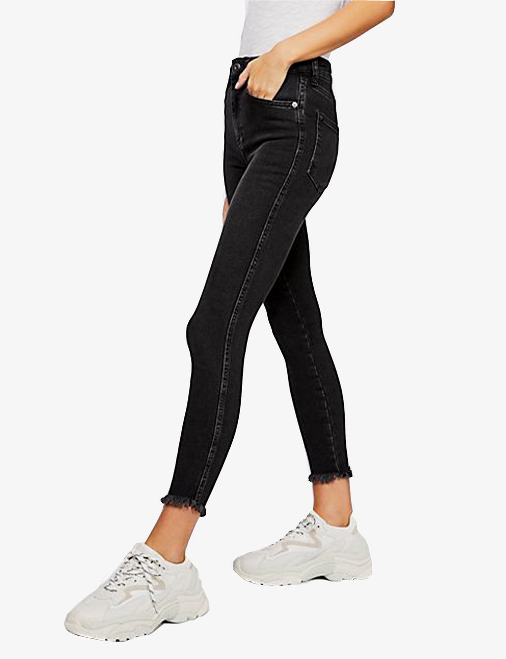 Raw High Rise Jegging in Black