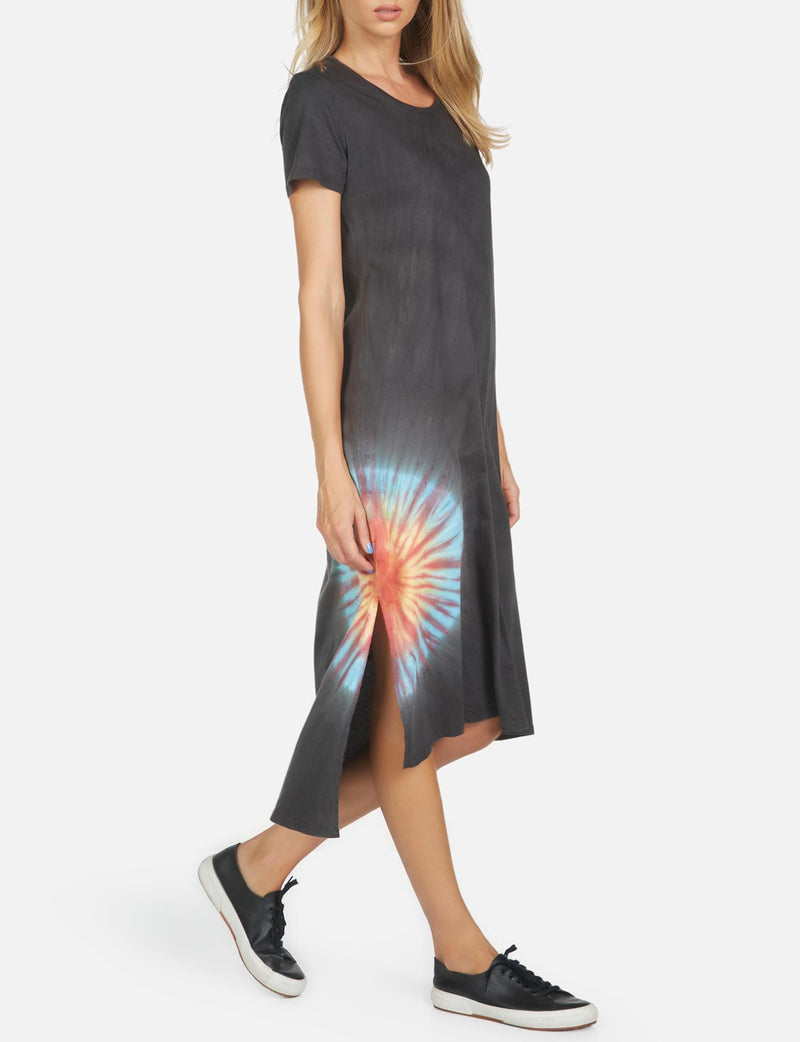 Augustus T Shirt Dress in Onyx Sunburst