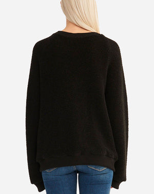 Ivy Long Sleeve V Neck in Black
