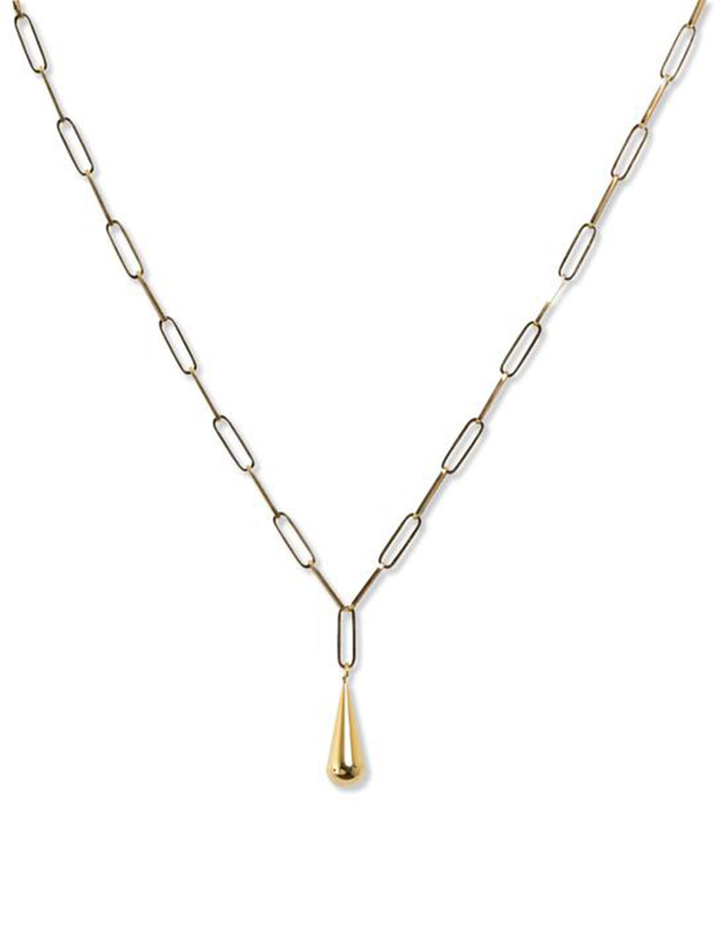 New York Drop Lariat in 14K Gold Plate over Sterling