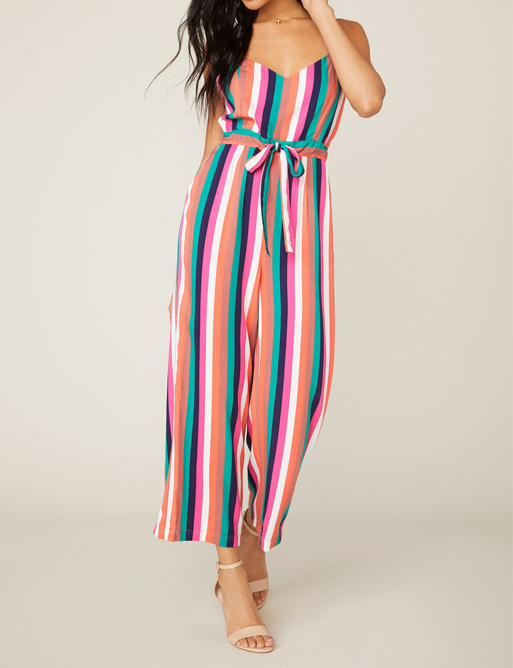 BB Dakota Flying Colors Jumpsuit in Multi Stripe