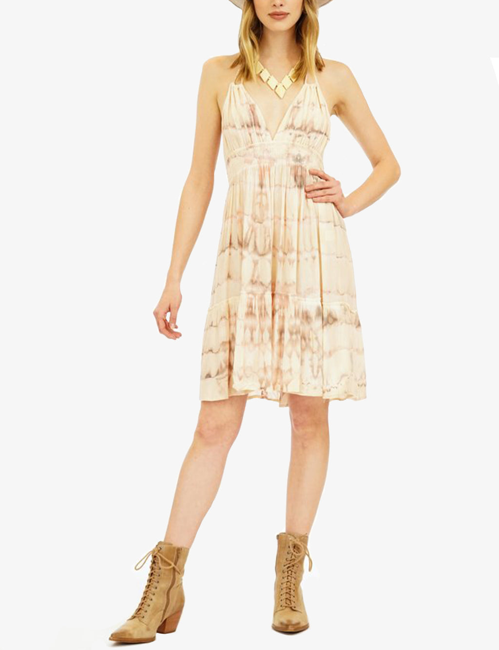Tiare Hawaii Dawn Dress, Light Mauve/Stone