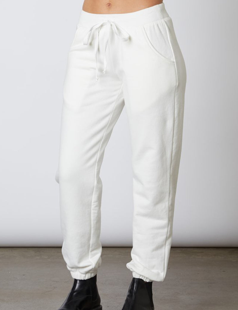 Bradley Sweatpant in White