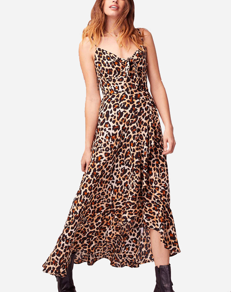 Born To Be Wild Dress in Brown/Black Animal