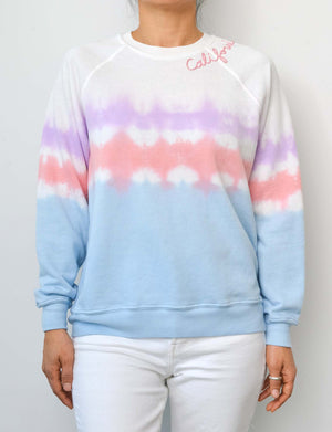 "Coachella w/ Hand Embroidery ""California"" in Cotton Candy"