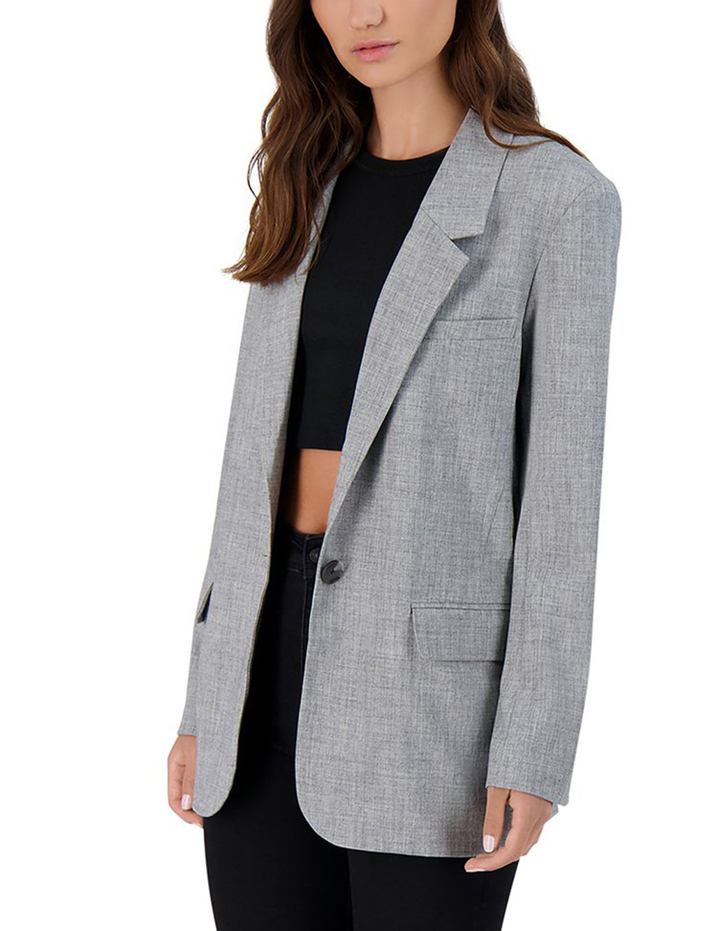 BB Dakota Making Moves Blazer in Grey