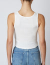 Distressed Tank in White