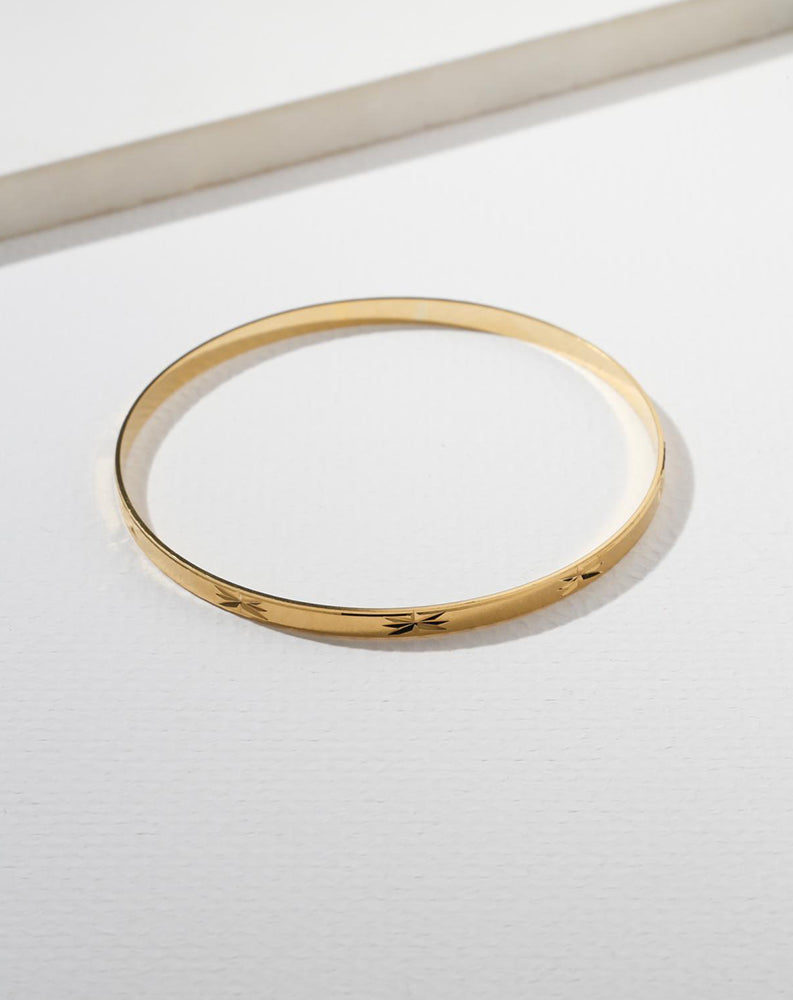 The Courage Bangle in Gold