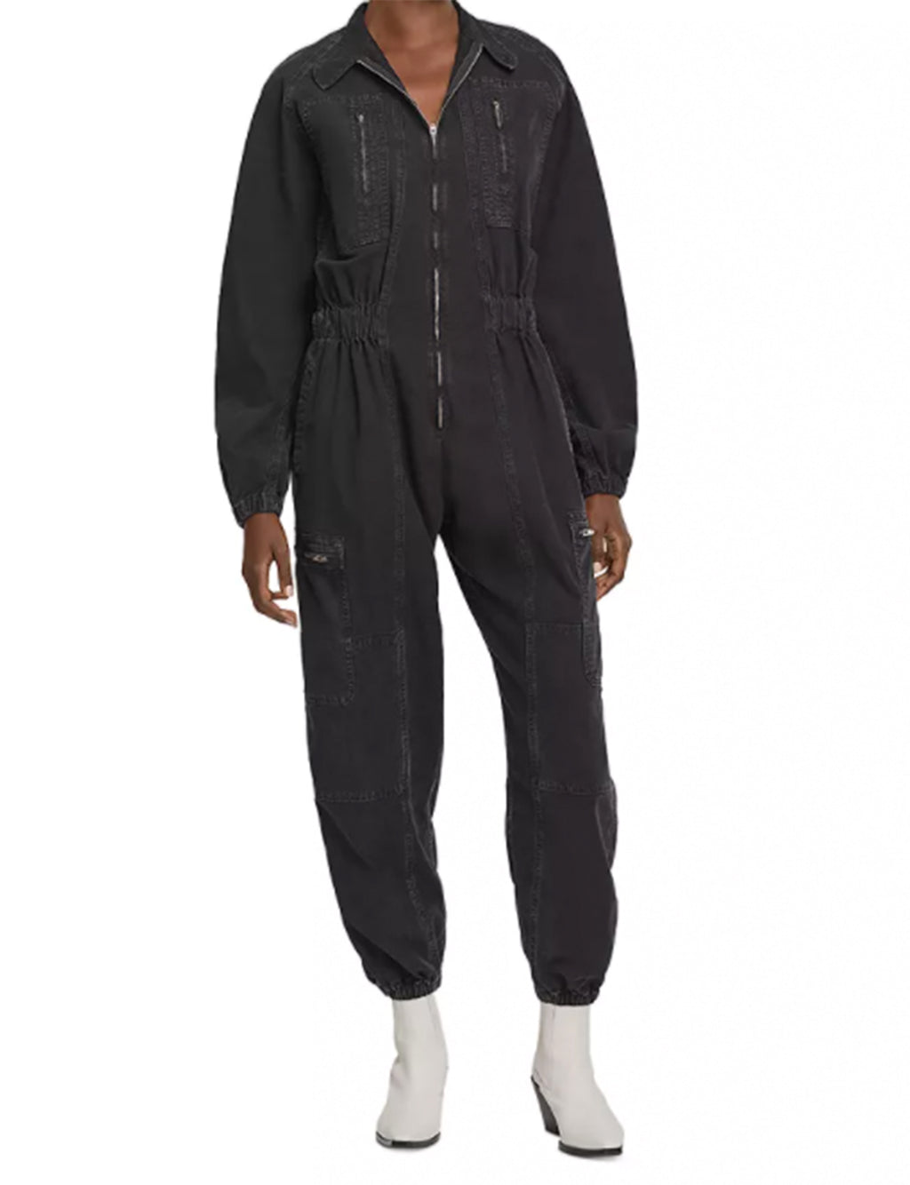 Marin Flight Suit in Washed Black