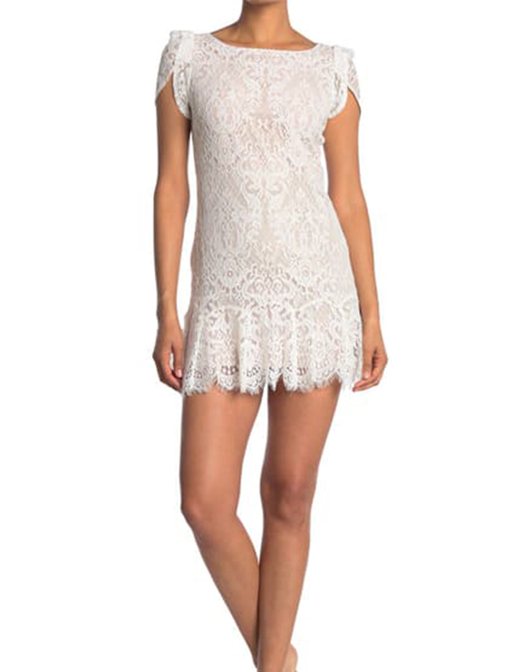 Fast Lace Environment Dress in Ivory