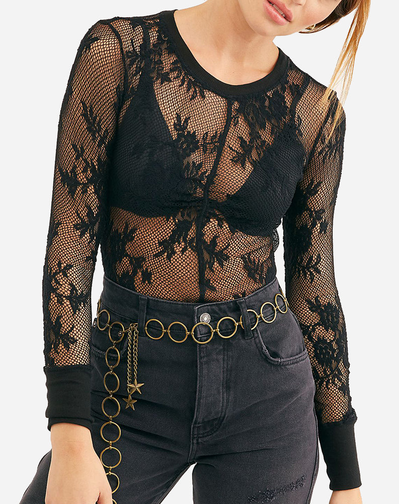 Free People Cool With It Layering Top, Black
