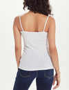 Rib Cami in White