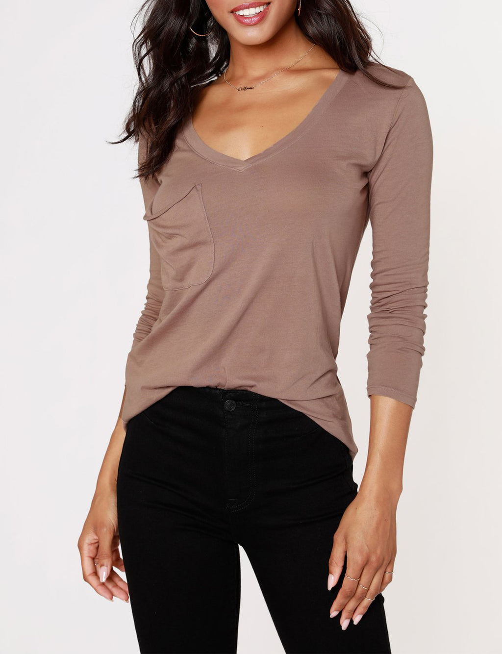 Long Sleeve Pocket Tee in Java