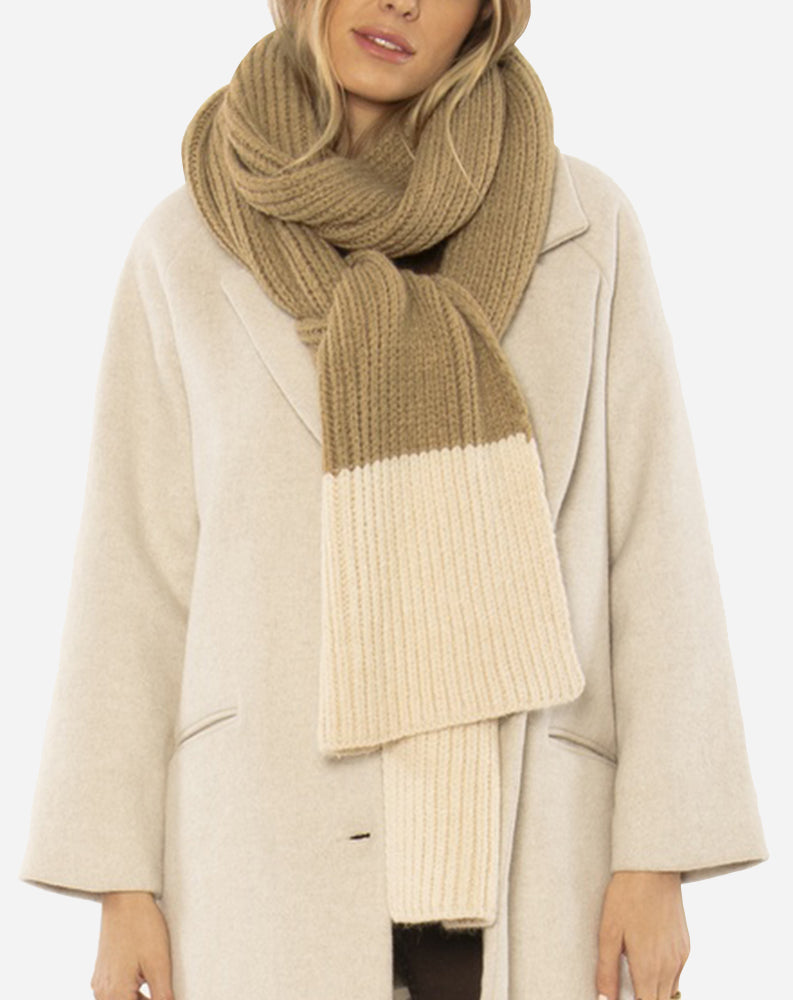 Cozy Up Knit Scarf in Sand/Brown
