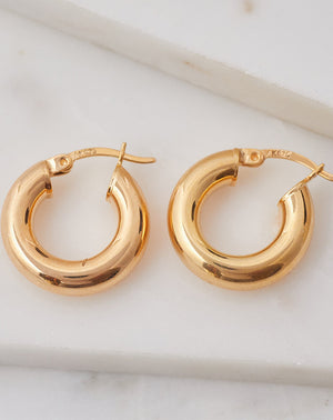 Malia Hoops in 14K GP