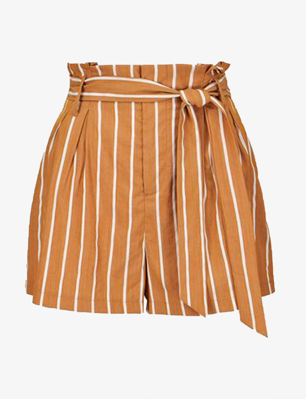 Striped Paperbag Short in Moonstone