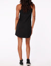 Henley Tank Dress in Black