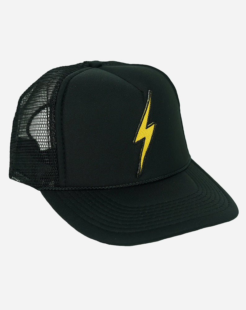 Bolt Low Rise Trucker Hat in Black