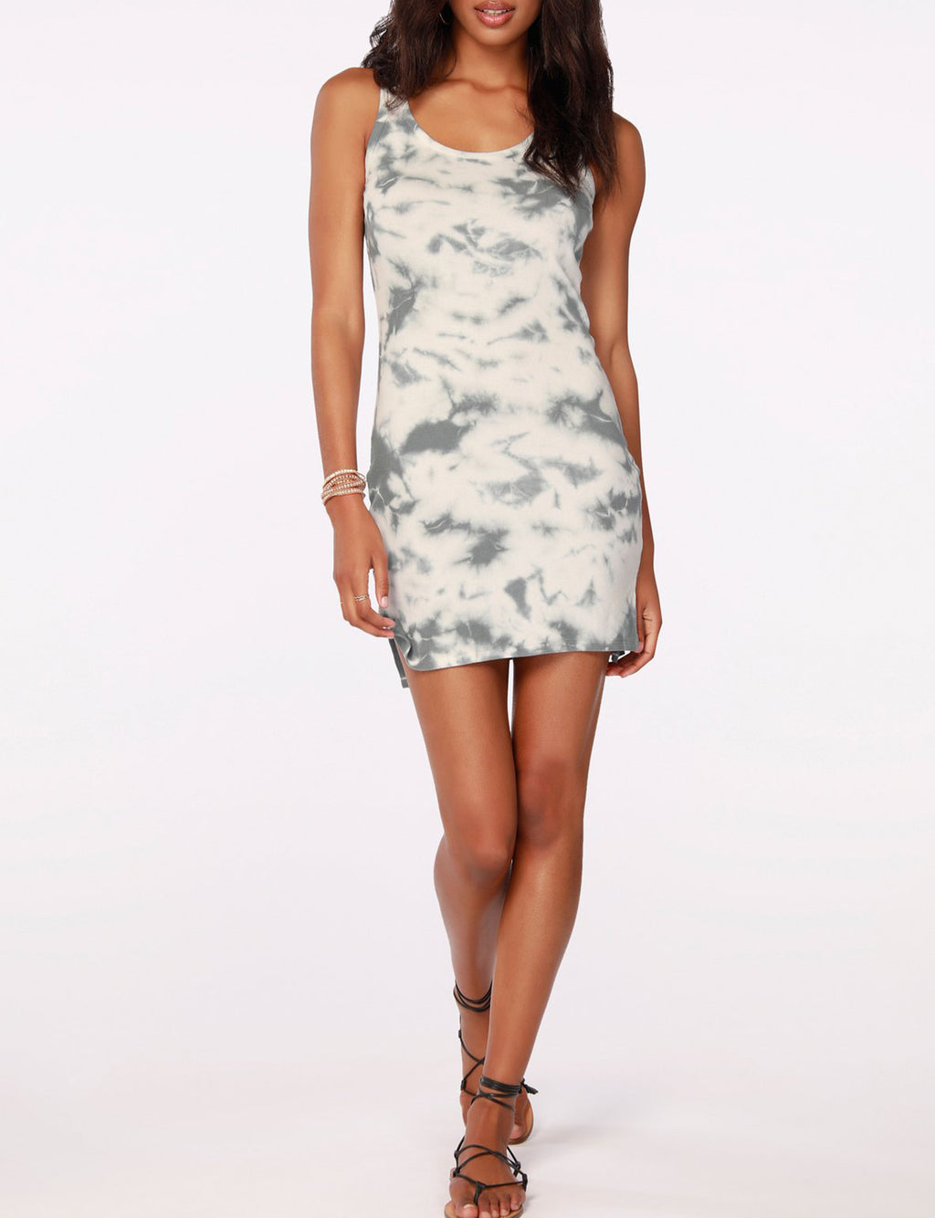 Hi-Lo Tank Dress in Overcast