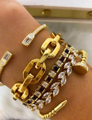 Bracha Breaking Chains Cuff in 14K Gold Plate