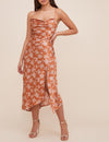Gaia Dress in Rust Floral
