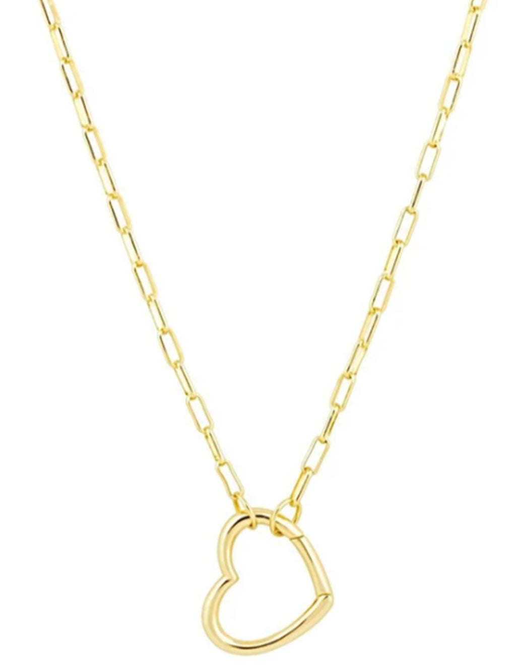 Brooke Open Heart Necklace in Gold