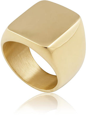 Dylan Chunky Ring 8 in Gold