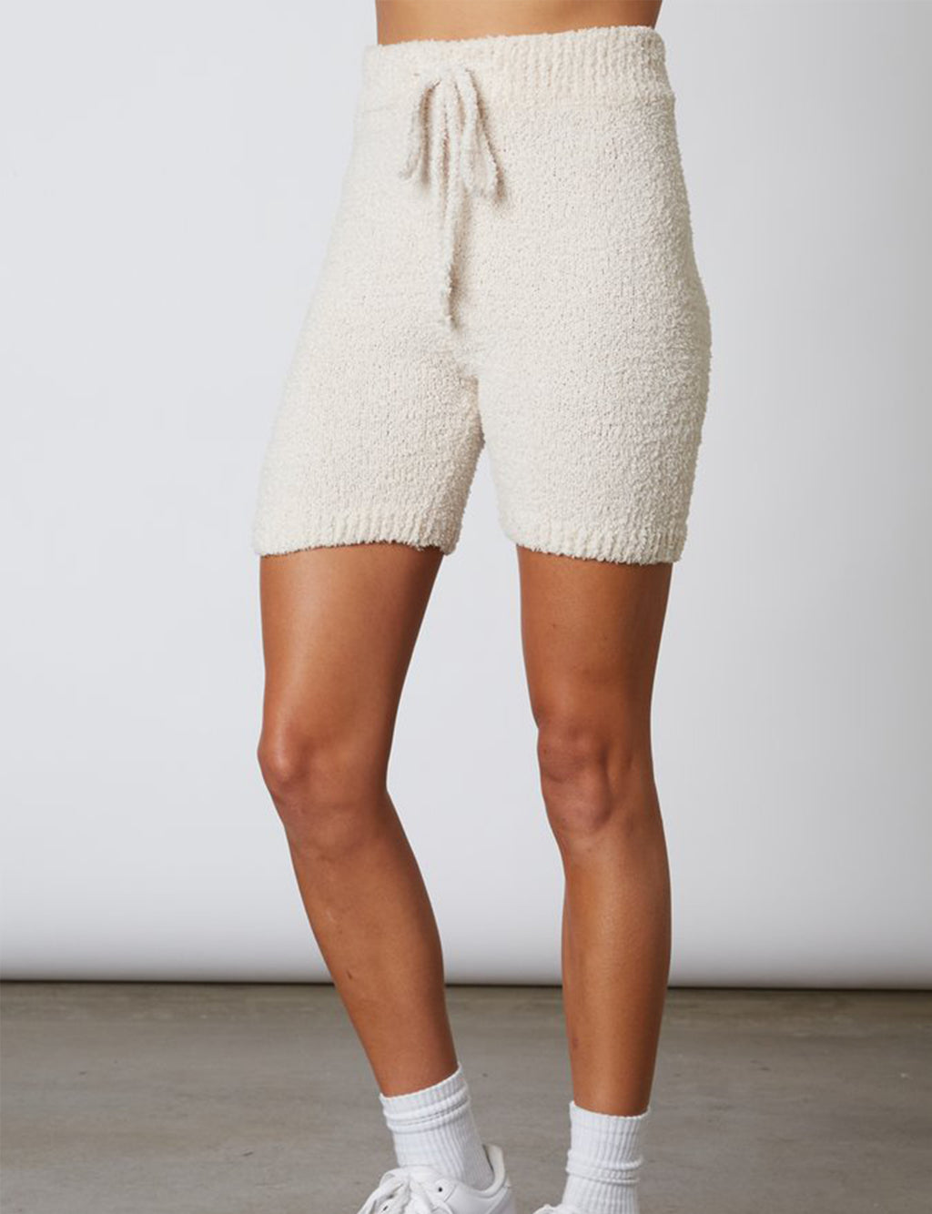 Mid Length Sweater Short in Natural