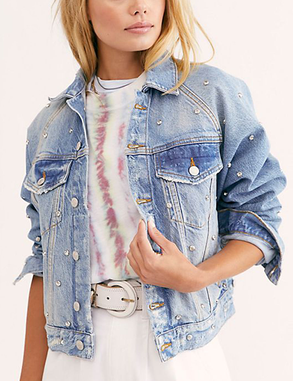 Shop Free People Night After Night Denim Jacket