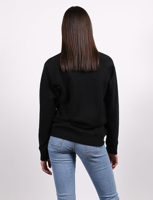 """Mama"" Crew Sweatshirt in Black"