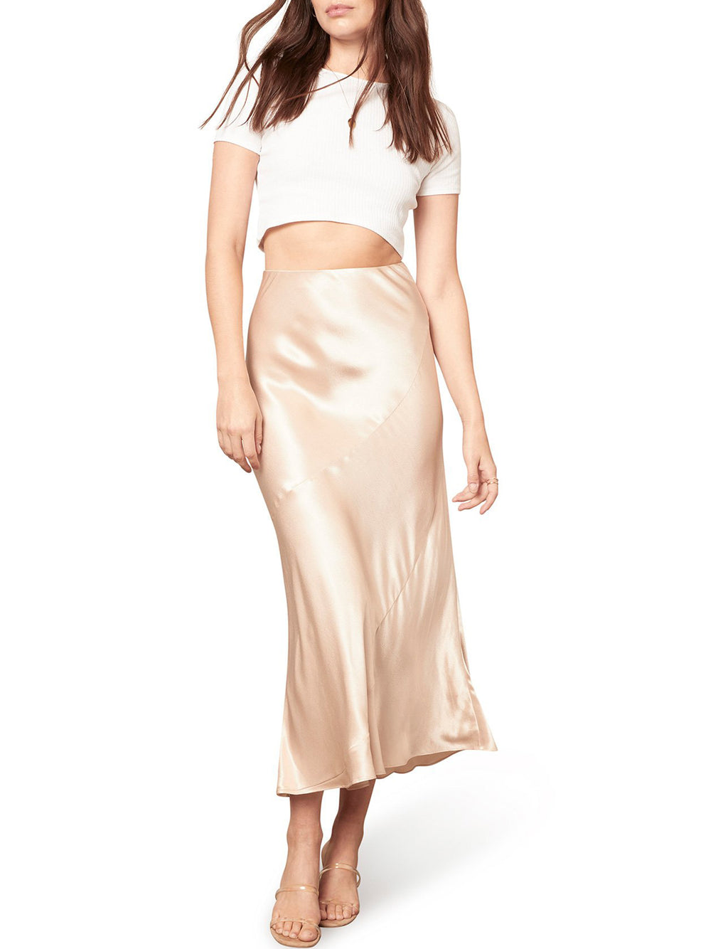 Sway of Life Skirt in Champagne
