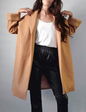 Cari Oversize Coat in Camel
