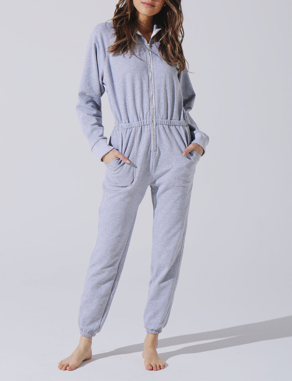 Mojave Jumpsuit in Heather Grey