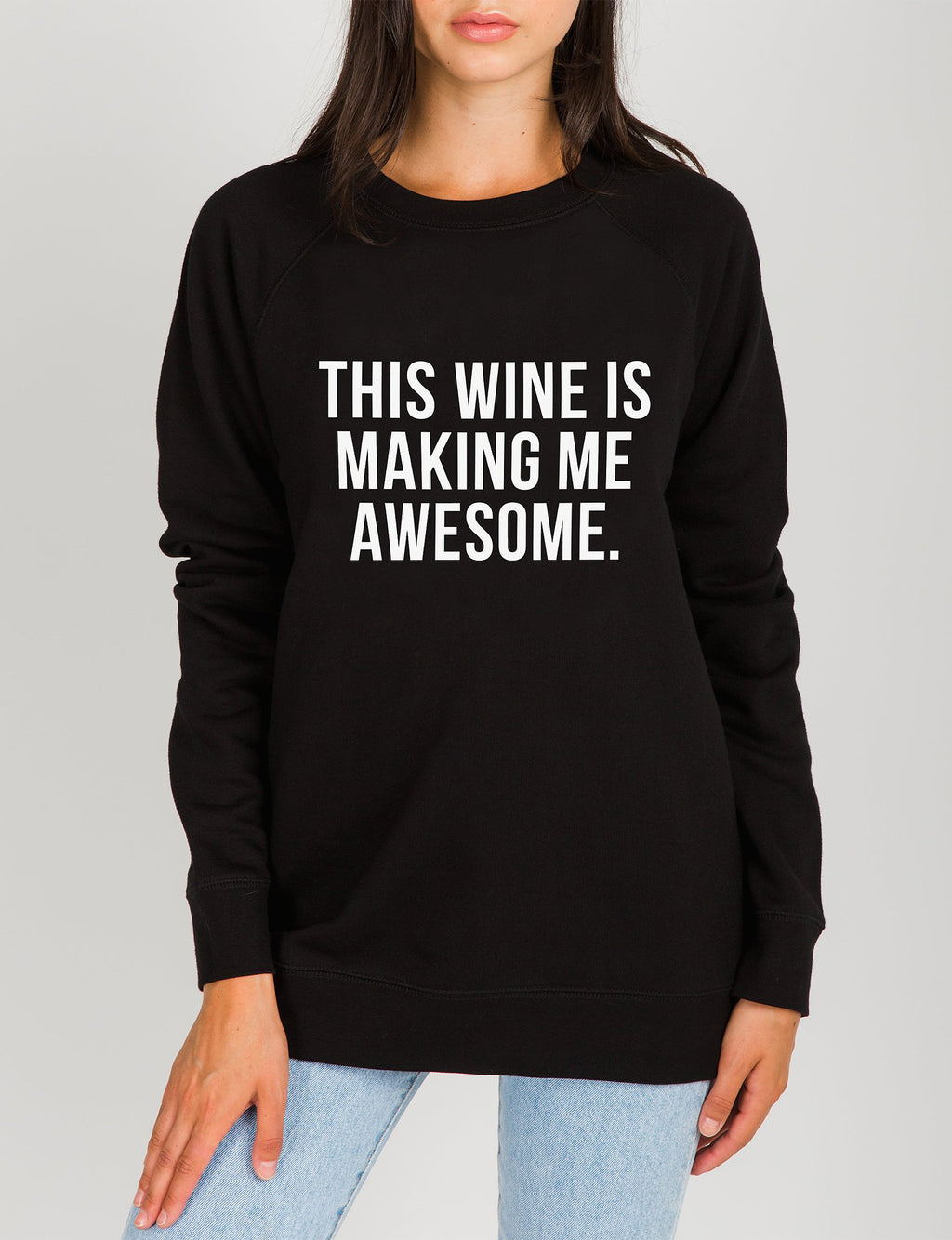 Wine Crew Sweatshirt in Black