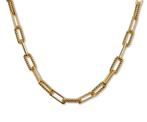 Daily Link Necklace in 18K Gold Plate over Stainless
