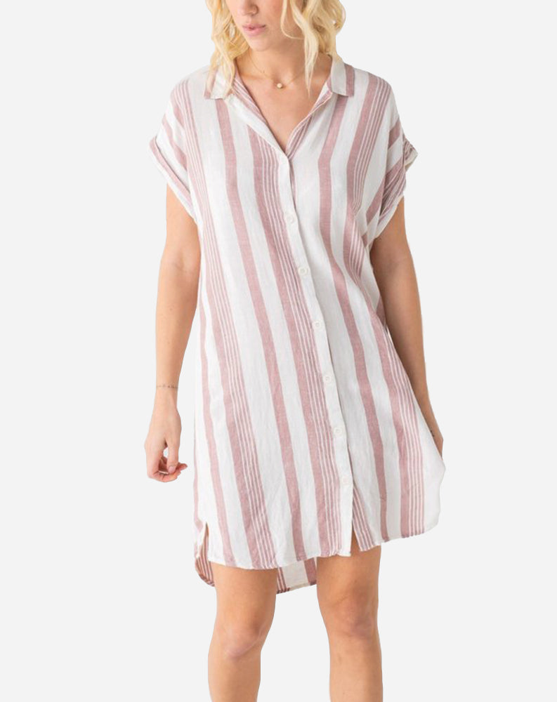 Aria Button Front Dress in Rosewater