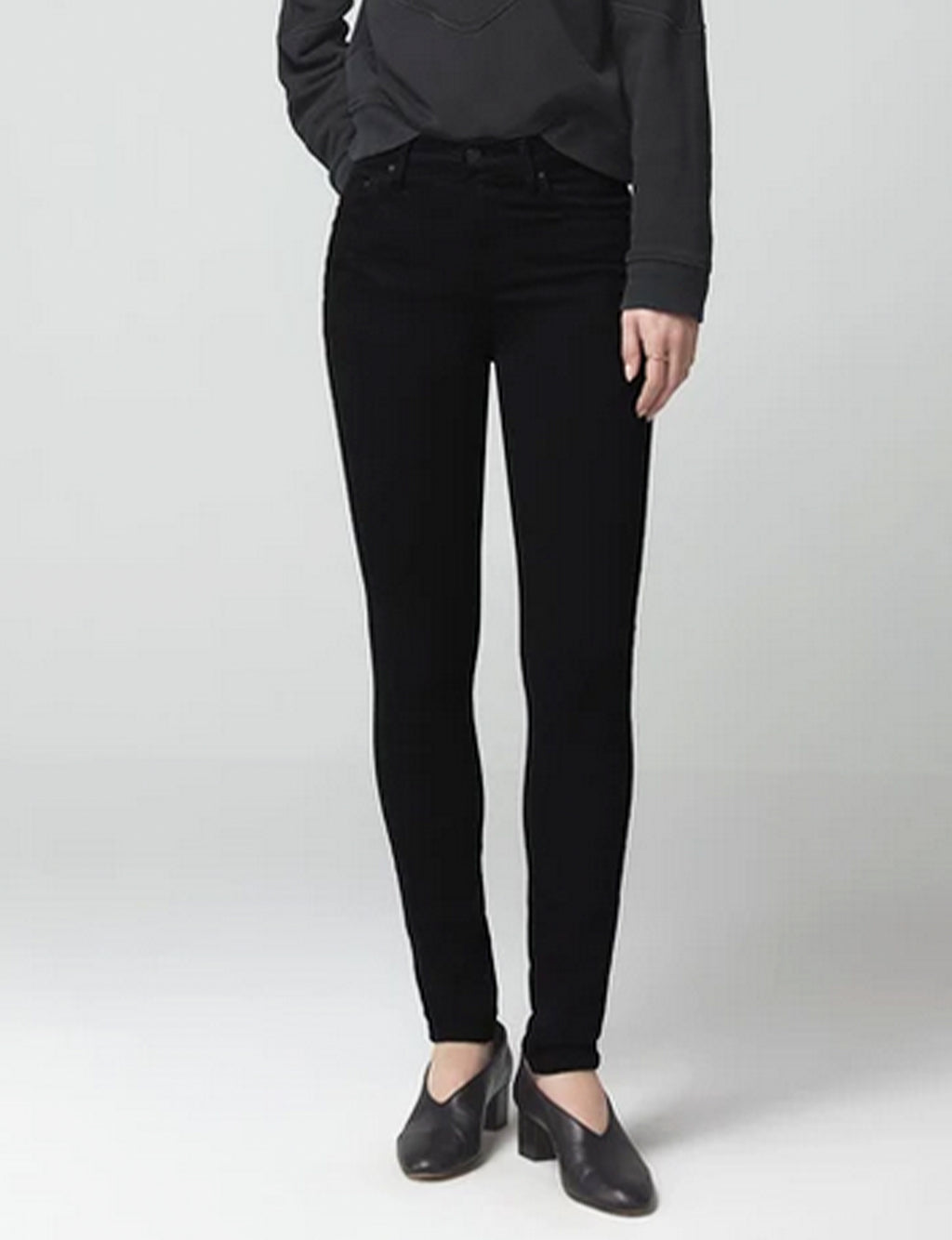 Citizens of Humanity Rocket Mid Rise Skinny, Plush Black