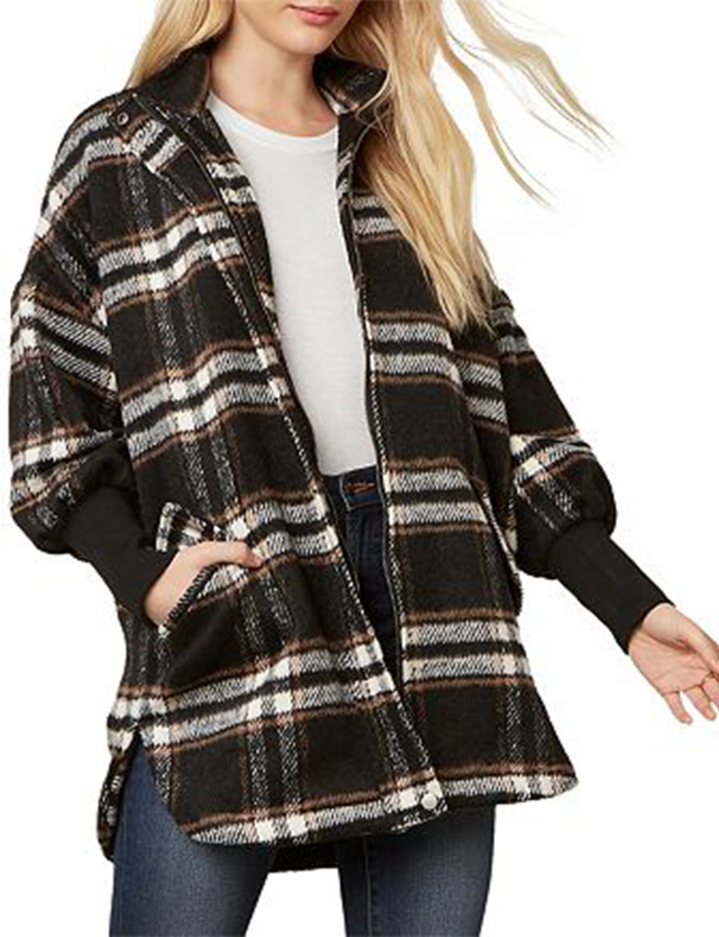 Plaid Times Jacket in Black