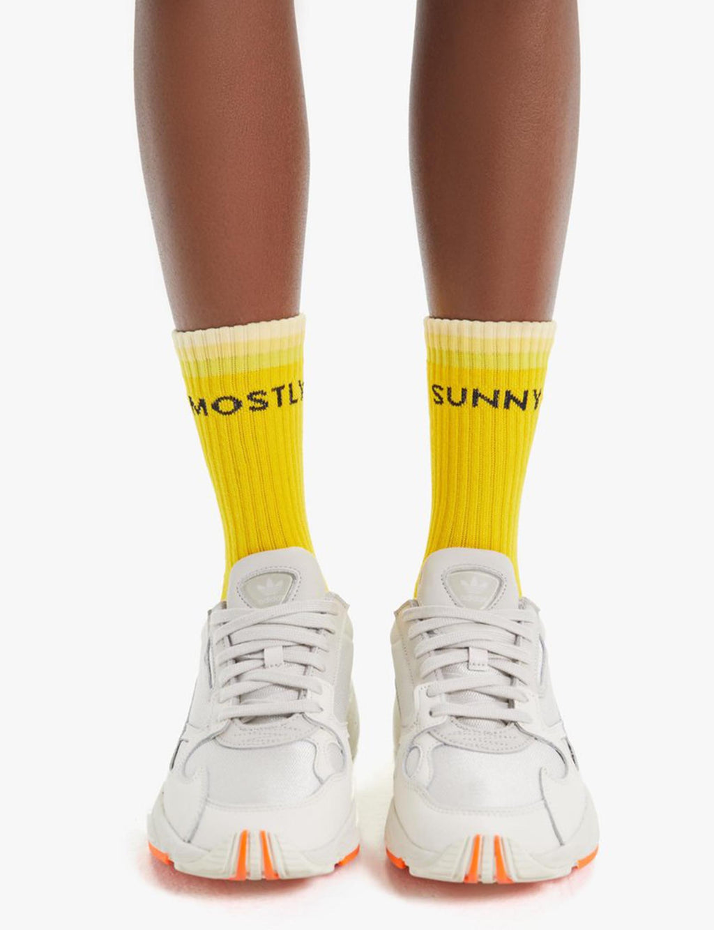 "Baby Steps Socks ""Mostly Sunny"" Yellow"