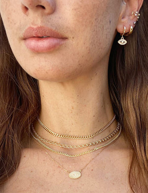 Izzy Layered Choker in Gold